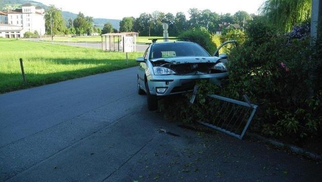 Flucht vor Polizei - Alkolenker touchiert Radler (Bild: LPD Vorarlberg)