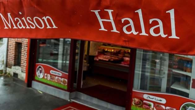 Halal-Markt soll Alkohol und Schwein verkaufen (Bild: AFP)