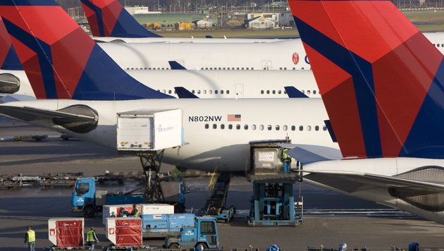 IT-Panne stoppte alle Starts von Delta Airline (Bild: AFP/picturedesk.com/Marcel Antonisse)