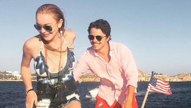 Lindsay Lohan und Egor Tarabasov als es noch gut lief. (Bild: Viennareport)
