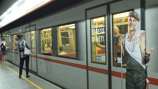Neue Kampagne: Wiener Linien mahnen Tür-Blockierer (Bild: WIENER LINIEN/JOHANNES ZINNER)