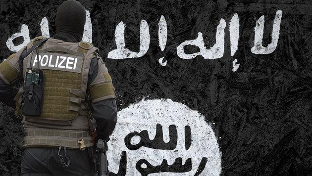 Schlag gegen gefährliche IS-Terrorzelle in Hessen (Bild: thinkstockphotos.de, APA/dpa/Franziska Kraufmann)