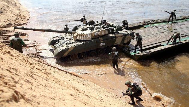 """In Russland findet """"Olympia der Panzer"""" statt (Bild: EPA)"""