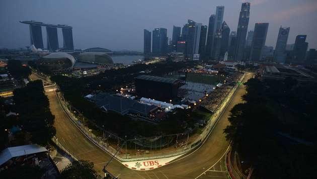 Marina Bay Street Circuit in Singapur (Bild: AFP)