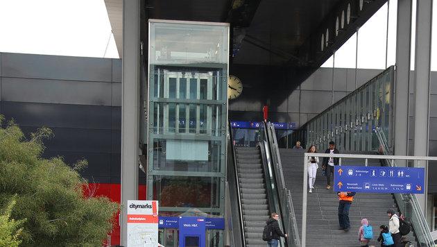 """Terrordrohung"" gegen Bahnhof Wels: T�ter gefasst (Bild: Matthias Lauber)"