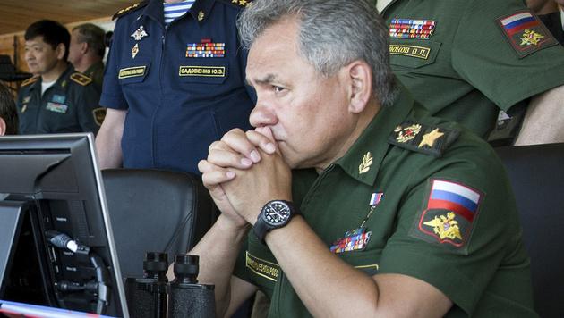Russlands Verteidigungsminister Sergei Shoigu (Bild: AP)