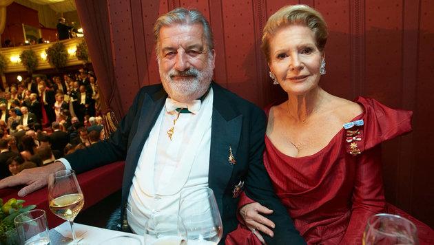 Gerhard Tötschinger und Christiane Hörbiger beim Wiener Opernball (Bild: Starpix/ Alexander TUMA)