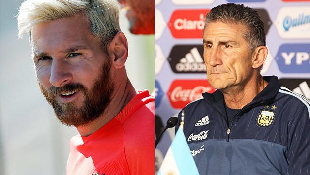 Argentiniens Teamchef will Messi zurückholen (Bild: EPA, AP)