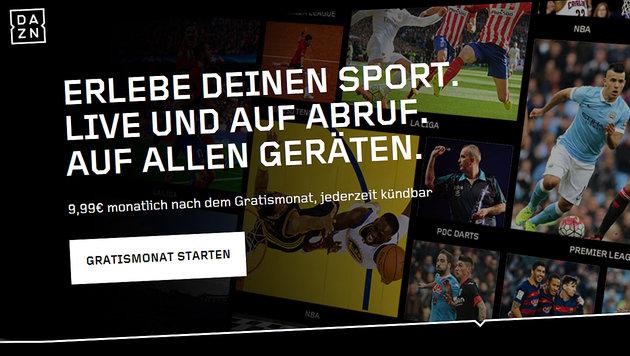 DAZN: Sport-Streamingdienst startet in Österreich (Bild: dazn.com)