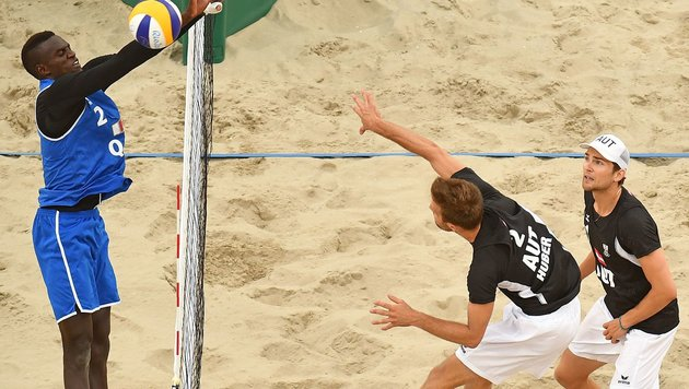 "Huber/Seidl mit ""Bad End"" im Beachvolley-Krimi (Bild: AFP or licensors)"