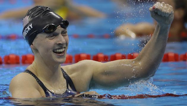 Ledecky schwimmt auch über 200 m Kraul zu Gold (Bild: AP)
