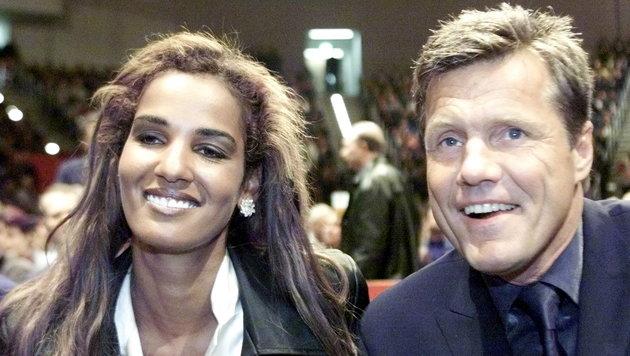 Dieter Bohlen und Nadja ab del Farag Naddel auf einem Foto aus dem Jahr 2000 (Bild: Viennareport)
