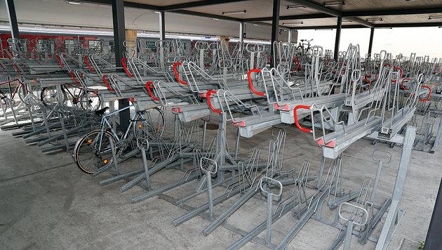 Die Geister-Radstation beim Wiener Westbahnhof (Bild: Klemens Groh)