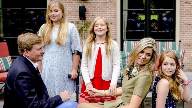 Die holländische Königsfamilie im Urlaub (Bild: EPA)