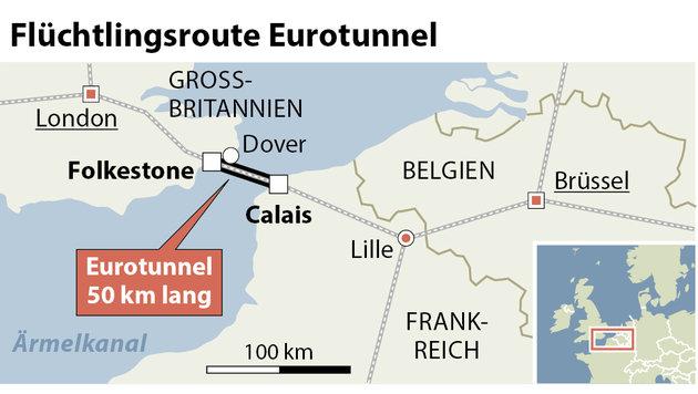 Calais: Mauer soll Flüchtlingsroute dichtmachen (Bild: APA)