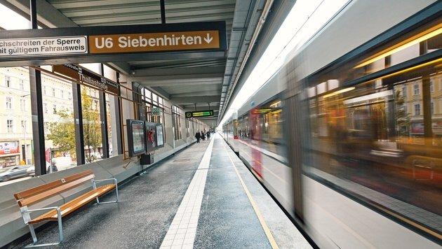 In der U6-Station Thaliastra�e kam es zum tr�nenreichen Happy End. (Bild: Wiener Linien)