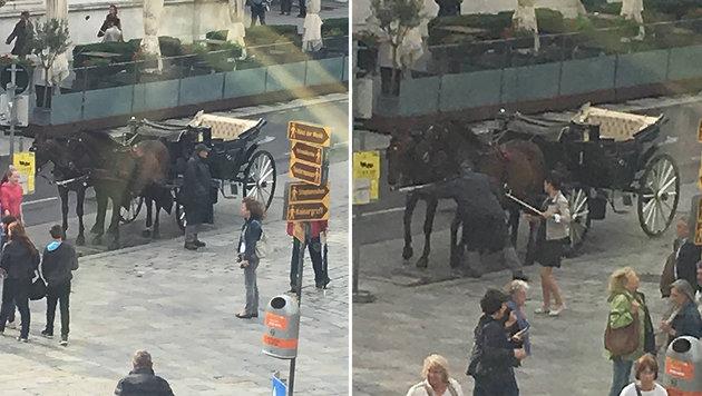 Leserin klagt an: Misshandelte Fiaker sein Pferd? (Bild: zVg)