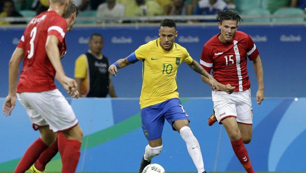 Neymar und Co. zaubern sich ins Viertelfinale (Bild: AP)