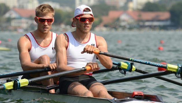 Rudern: Medaillentraum für Sieber-Brüder geplatzt! (Bild: APA/HELMUT FOHRINGER)