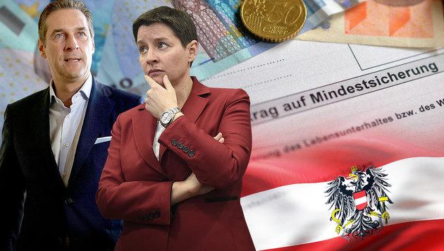 """Strache: """"Sozialleistungen nur für Österreicher!"""" (Bild: APA/Helmut Fohringer, APA/GEORG HOCHMUTH, APA/BARBARA GINDL)"""