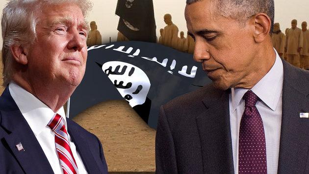 """Trump: """"Präsident Obama ist der Gründer des IS"""" (Bild: AP, twitter.com, APA/EPA/KEVIN DIETSCH, thinkstockphotos.de)"""