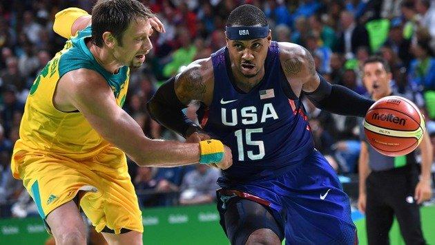 US-Basketballteam entgeht nur mit Mühe Blamage (Bild: APA/AFP/ANDREJ ISAKOVIC)