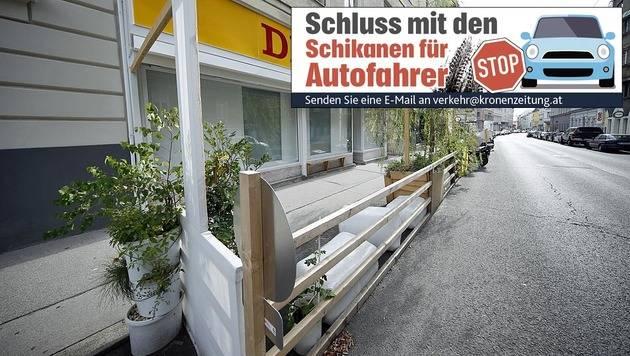 In der Gentzgasse sorgt ein Schanigarten für Ärger. (Bild: Reinhard Holl)