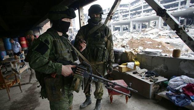 Prorussische Separatisten in Donezk (Bild: APA/AFP/ALEKSEY FILIPPOV)