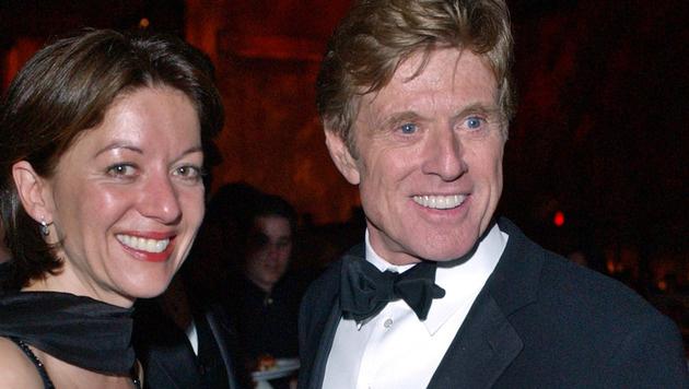 Robert Redford und seine Ehefrau Sibylle Szaggars (Bild: AP)