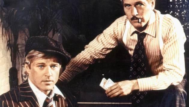 """Robert Redford mit Paul Newman in """"Der Clou"""" (Bild: Viennareport)"""