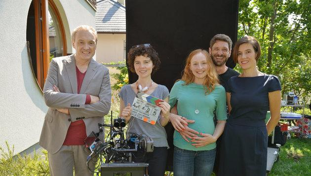 Josef Hader, Regisseurin Marie Kreutzer, Brigitte Hobmeier, Andreas Kiendl und Pia Hierzegger (Bild: ORF)