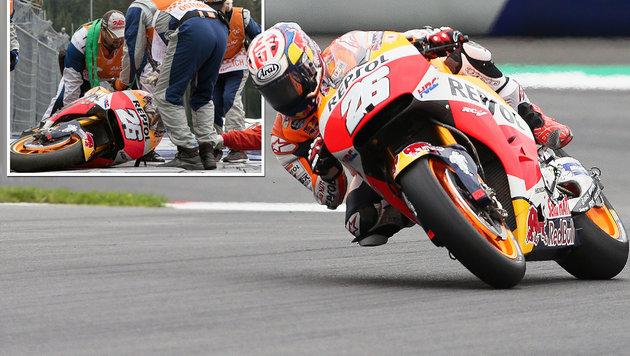 Crash-Serie in Spielberg: MotoGP-Stars purzeln (Bild: GEPA)
