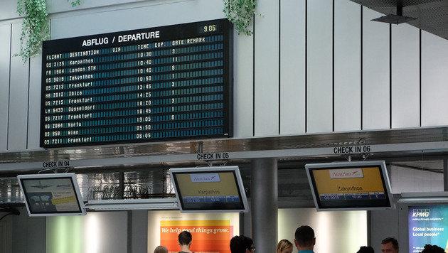 Die Abflughalle am Flughafen Linz-H�rsching (Bild: Chris Koller)