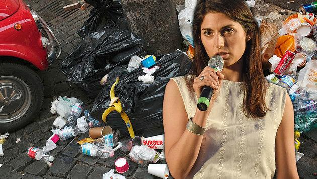 Roms Bürgermeisterin Virginia Raggi (Bild: APA/AFP/ANDREAS SOLARO, AFP)