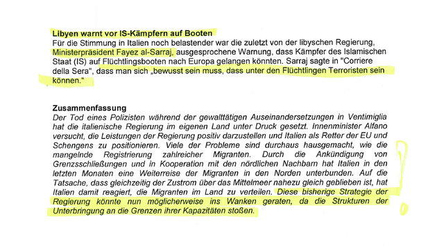 """Asylkrise in Italien alarmiert Österreich (Bild: """"Krone"""")"""
