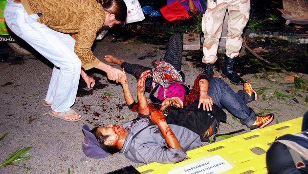 Bombenterror in Thailand - Österreicherin verletzt (Bild: APA/AFP/DAILYNEWS)