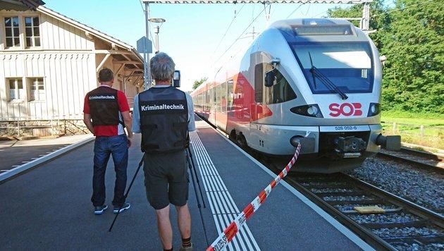 Schweiz: Mann zündet Zug an - sieben Verletzte (Bild: APA/AFP/newspictures.ch)