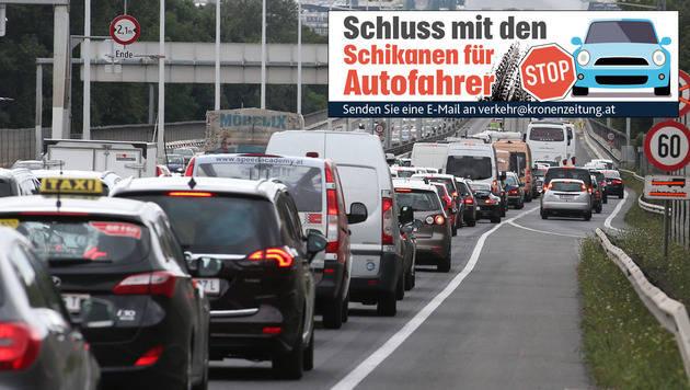 Autofahrer steckten 90 Minuten auf Tangente fest (Bild: Zwefo)