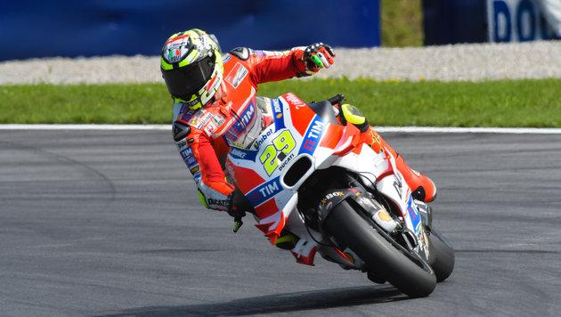 Italiener dominieren: Pole an Iannone vor Rossi (Bild: GEPA)