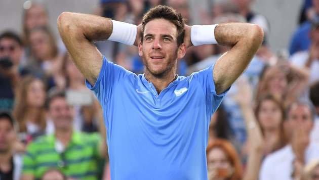 Nadal draußen! Del Potro folgt Murray ins Finale (Bild: Foto-/Videocredit: APA/AFP/LUIS ACOSTA)