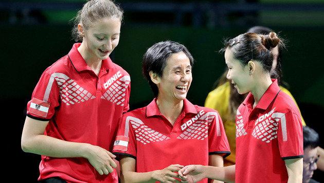 Sofia Polcanova, Liu Jia und Li Qiangbing (Bild: GEPA)