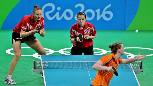 Österreichs Tischtennis-Damen im Viertelfinale (Bild: GEPA)