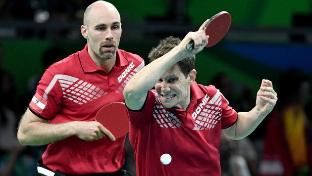 Tischtennis: Auch Herren-Team im Viertelfinale (Bild: APA/HANS KLAUS TECHT)
