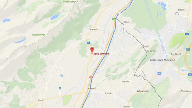 Salez-Sennwald liegt im Grenzgebiet zu Österreich. (Bild: Google maps)