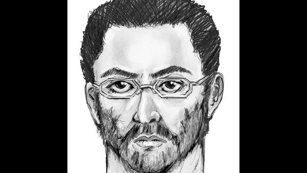 Das Phantombild des Verdächtigen (Bild: AP)