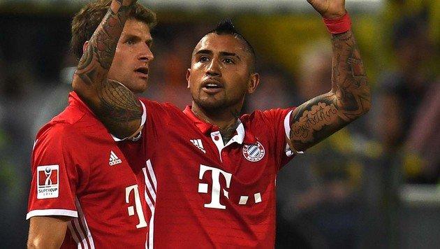 FC Bayern M�nchen holt Supercup gegen Dortmund! (Bild: AFP or licensors)