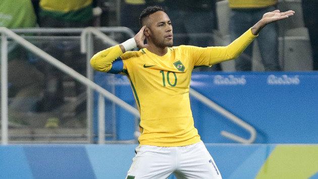 Neymar trifft! Brasilien steht im Halbfinale (Bild: APA/AFP/MIGUEL SCHINCARIOL)