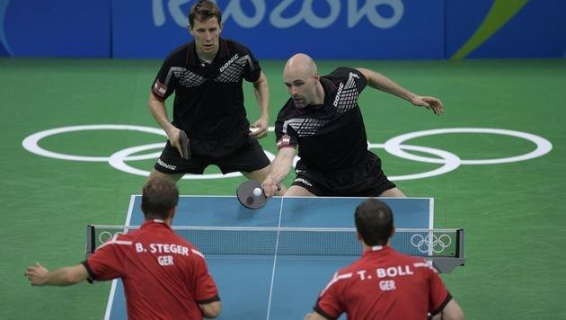 Tischtennis-Herren im Viertelfinale mit 1:3 out (Bild: AFP)
