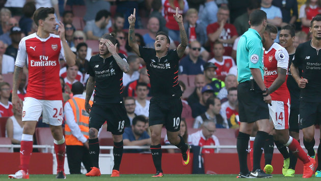 Tor-Spektakel! Liverpool ringt Arsenal 4:3 nieder (Bild: AP)