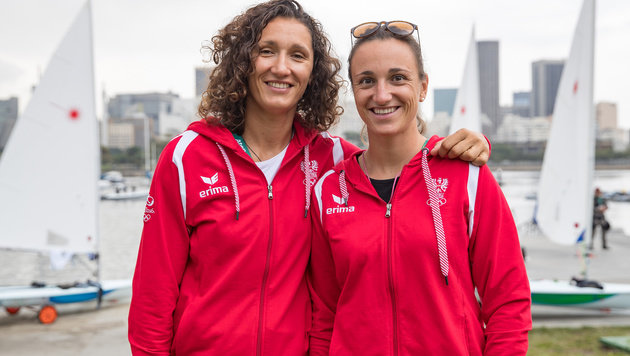 Jolanta Ogar und Lara Vadlau (Bild: APA/EXPA/JOHANN GRODER)